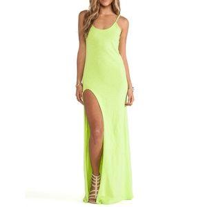 NEW Blue Life Summer Nights Dress Lime Slit Maxi